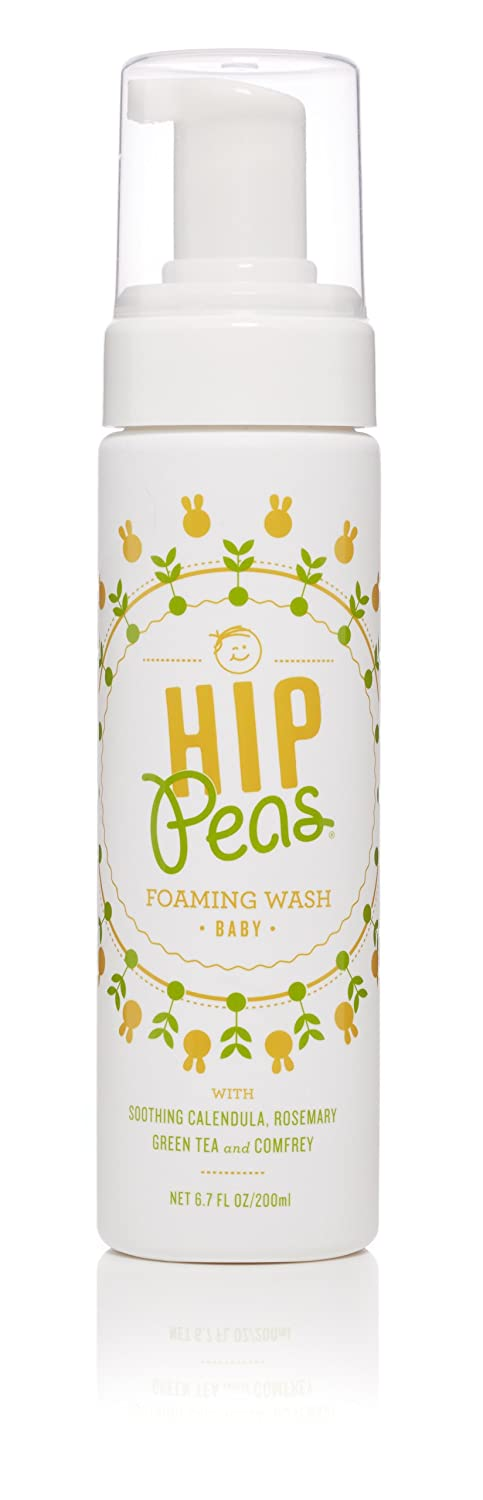 Hip Peas Natural Foaming Baby Wash | Safe & Effective for Babies and Children | 100% toxin-free | Made in USA | 6.7 oz pump