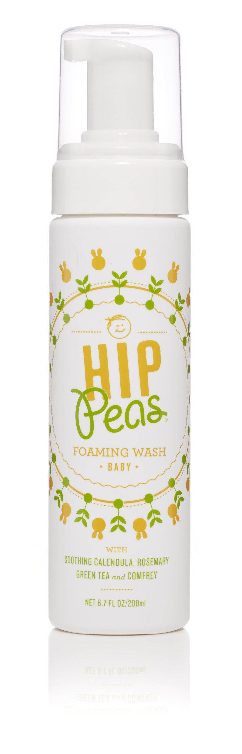 Hip Peas Natural Foaming Baby Wash   Safe & Effective for Babies and Children   100% toxin-free   Made in USA   6.7 oz pump