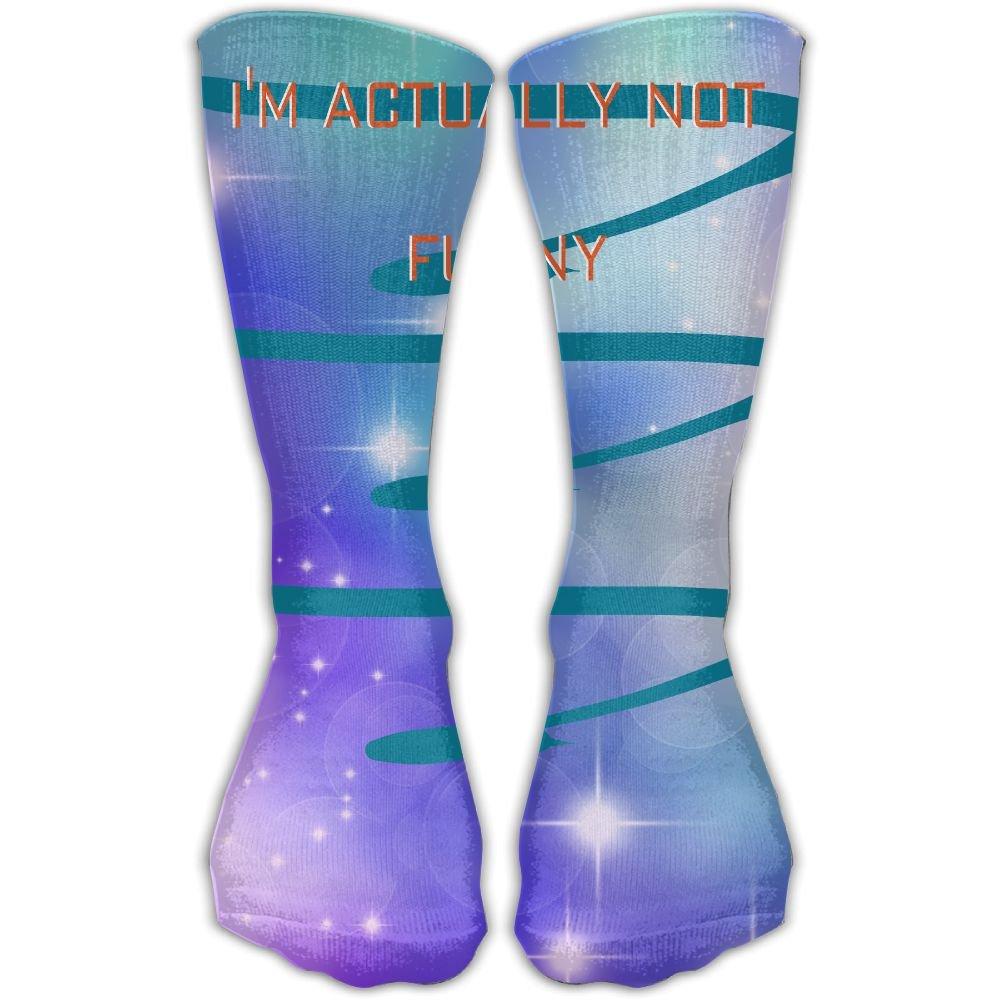 Unisex Athletic Socks Ankle Socks Casual Sport Socks I Am Just Mean And People Think Im Joking Breathable Crew Socks 30cm