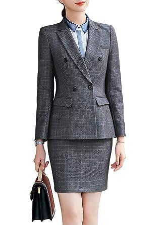 Blazer Formal de Tres Piezas para Mujer, Traje de Oficina para ...