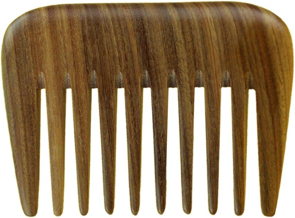 meta-c portátil pelo/peine para barba/Pick–hecho de un conjunto de la pieza de madera de sándalo Natural verde con fragancia de la fragancia