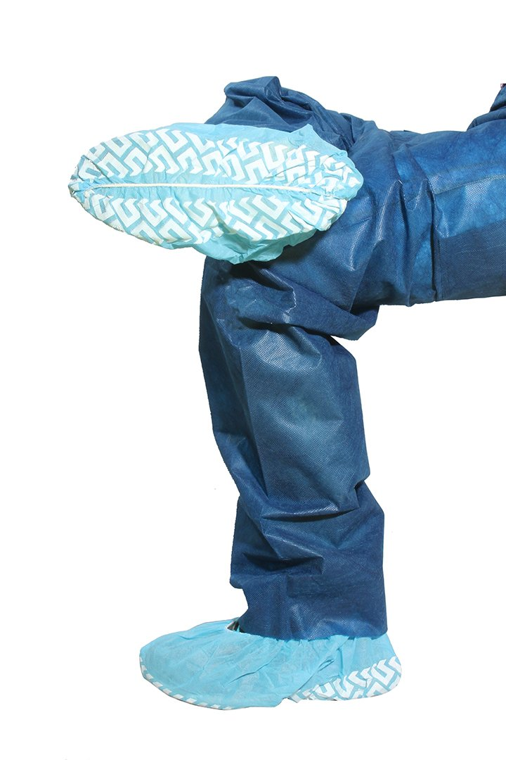 Dukal 352 Shoe Cover, Non-Skid, Size 14-16, X-Large, Blue (Pack of 200)