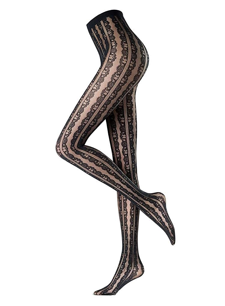 2cf74edeb202b Oroblu Abstract Flounce Patterned Tights: Amazon.co.uk: Clothing