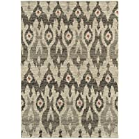 Oriental Weavers 6301E Highlands Area Rug, Ivory/Grey, 23 by 76