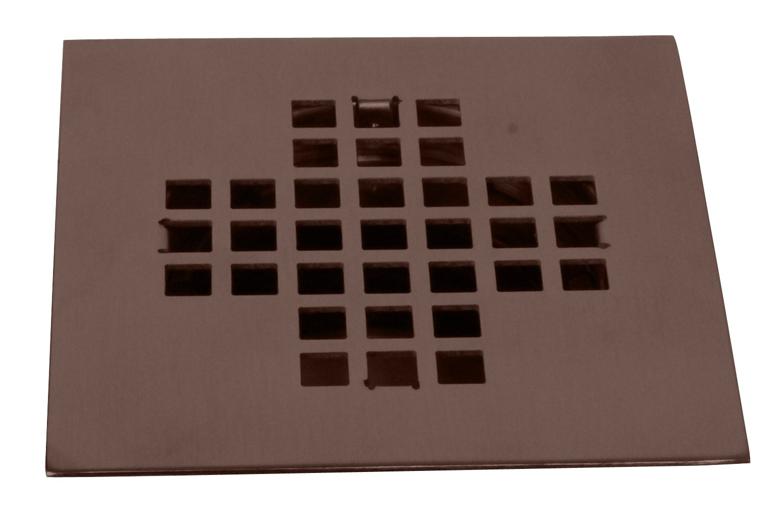 Westbrass Square Shower Drain Cover, Oil Rubbed Bronze, D206-SQG-12