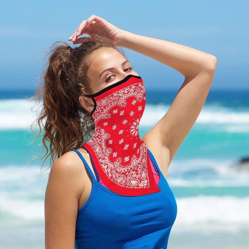 Ear Hangers Balaclava Neck Gaiters Washable Anti-Dust Cloth Sun UV-Proof Cycling Motorcycle Face Scarf Women Men Unisex Bandana Face Cover