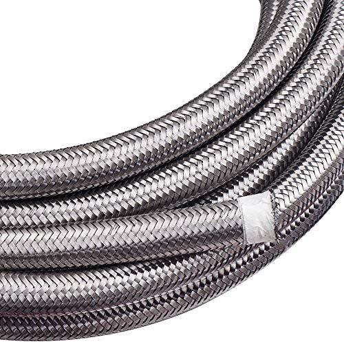 maXpeedingrods 10AN 20FT Stainless Steel PTFE/Teflon Fuel Line AN10 Fitting Swivel Hose Kit AN10 20Feet - Black by maXpeedingrods (Image #4)