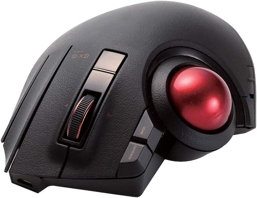 エレコム トラックボールマウス/親指/8ボタン/有線/無線/Bluetooth/ブラック
