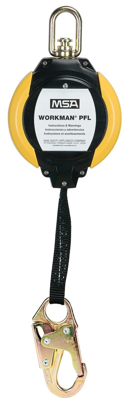 MSA 10093354 Workman Web Personal Fall Limiter, 36C Steel Snaphook, 12' Line Length by MSA  B007IBGQ16