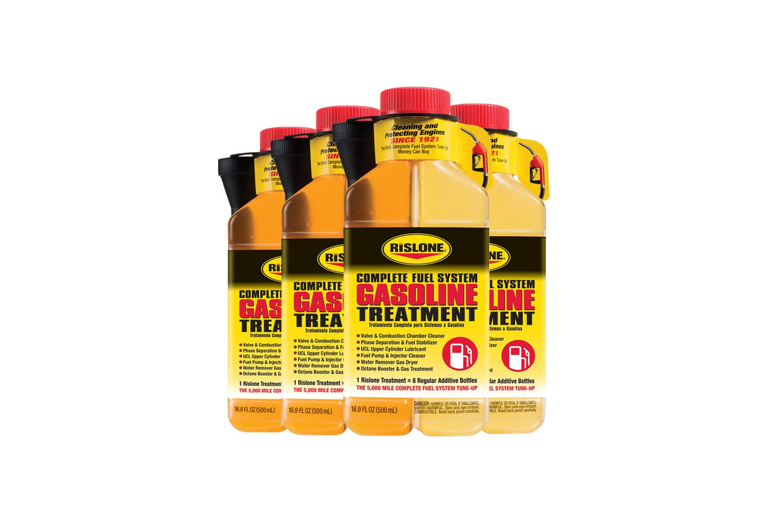 Rislone 4700-4PK Complete Gasoline Fuel System Treatment 16.9 oz, (Pack of 4) by Bar's Leaks