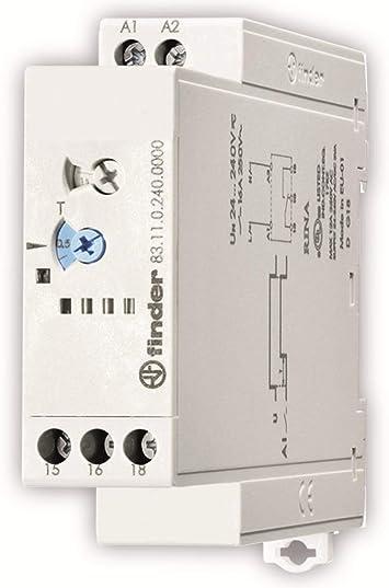 Finder serie 83 - Rele temporizador modular retardo conexion 240vac/corriente continua: Amazon.es: Bricolaje y herramientas