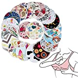 Floweryua 10Pcs Random Color Maternity Reusable Washable Feeding Absorbent Nursing Pads Breast Shield Spill Prevention