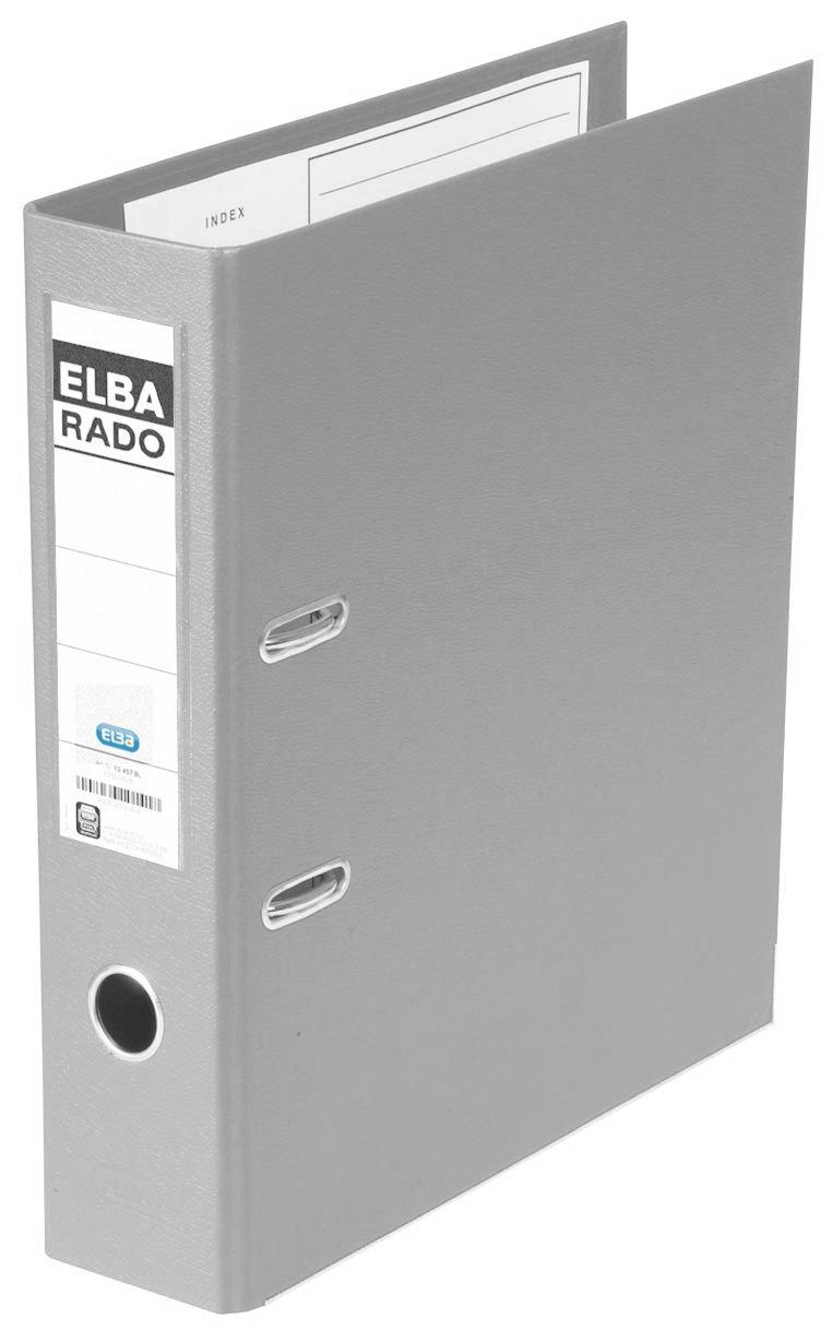 Elba Rado Plast - Archivador palanca en PVC, A4, color gris: Amazon.es: Oficina y papelería