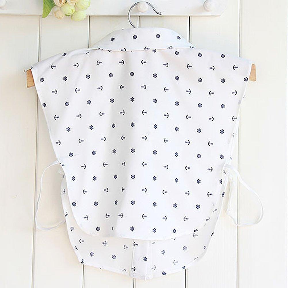 BeToper Mujeres Cuello Desmontable Mitad Camiseta Blusa en algod/ón Color Blanco