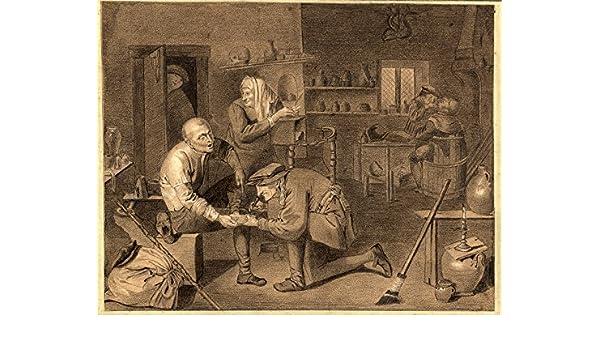 Antiguo dibujo-curandero doctor-scalpel-operate - Teniers-Brueghel ...