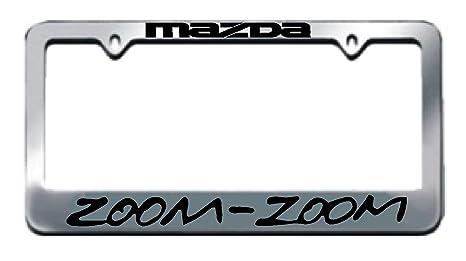 Amazon.com: Mazda Zoom Zoom Chrome License Plate Frame: Automotive
