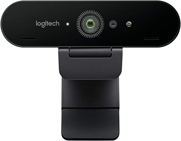 Logitech Brio Ultra HD Pro Webcam, Streaming Fluido 1080p/60fps, Campo Visual Ajusable, Zoom X5, Compatible Avec Skype, WebEx, Cisco Jabber, Zoom, Windows Hello, PC/Mac/Portátil/Chrome, Color Negro