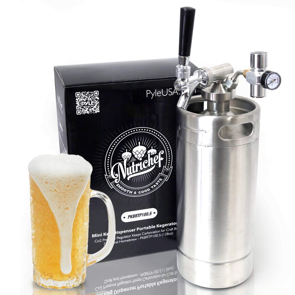 bd8b5bf03fe ... Steel Mini Keg Dispenser Portable Kegerator Kit - Co2 Pressure  Regulator Keeps Carbonation for Craft Beer