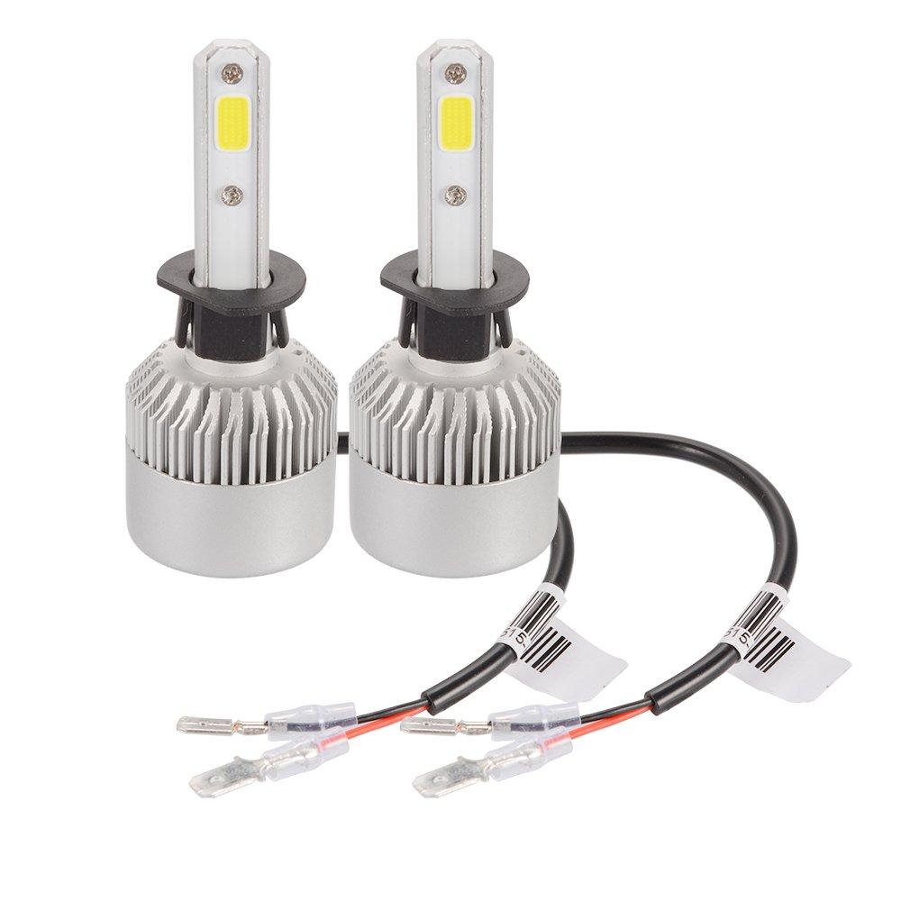 Bonega Ampoule Lampe Halogène H7 20000LM 200W CREE LED Phare de voiture Ventilateur Intégré 6500K Blanc LD1033-SZ-OTBE