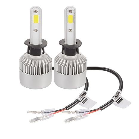 XCSOURCE 20000LM 200W CREE LED coche faro H1 bombilla de halógeno incorporado en el ventilador de