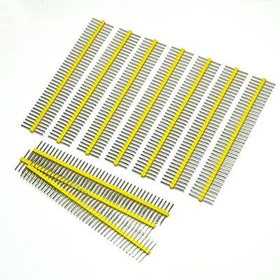 Gikfun 1 x 40 Pin 2.54mm Single Row Breakaway Male Pin Header for Arduino (Pack of 10pcs) EK1530 by Esooho
