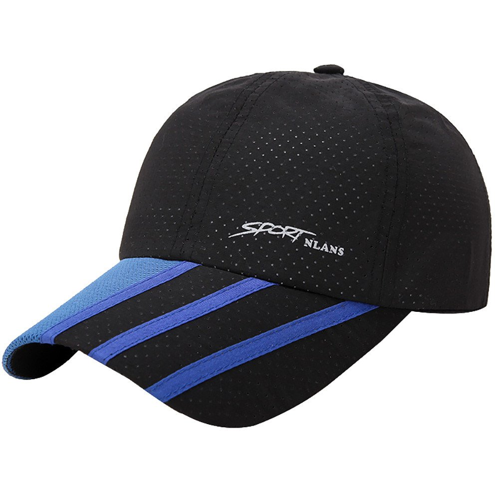 CSSD Fashion Baseball Caps for Men Outdoor Sport Golf Gentleman Style Sun Hats (Black)