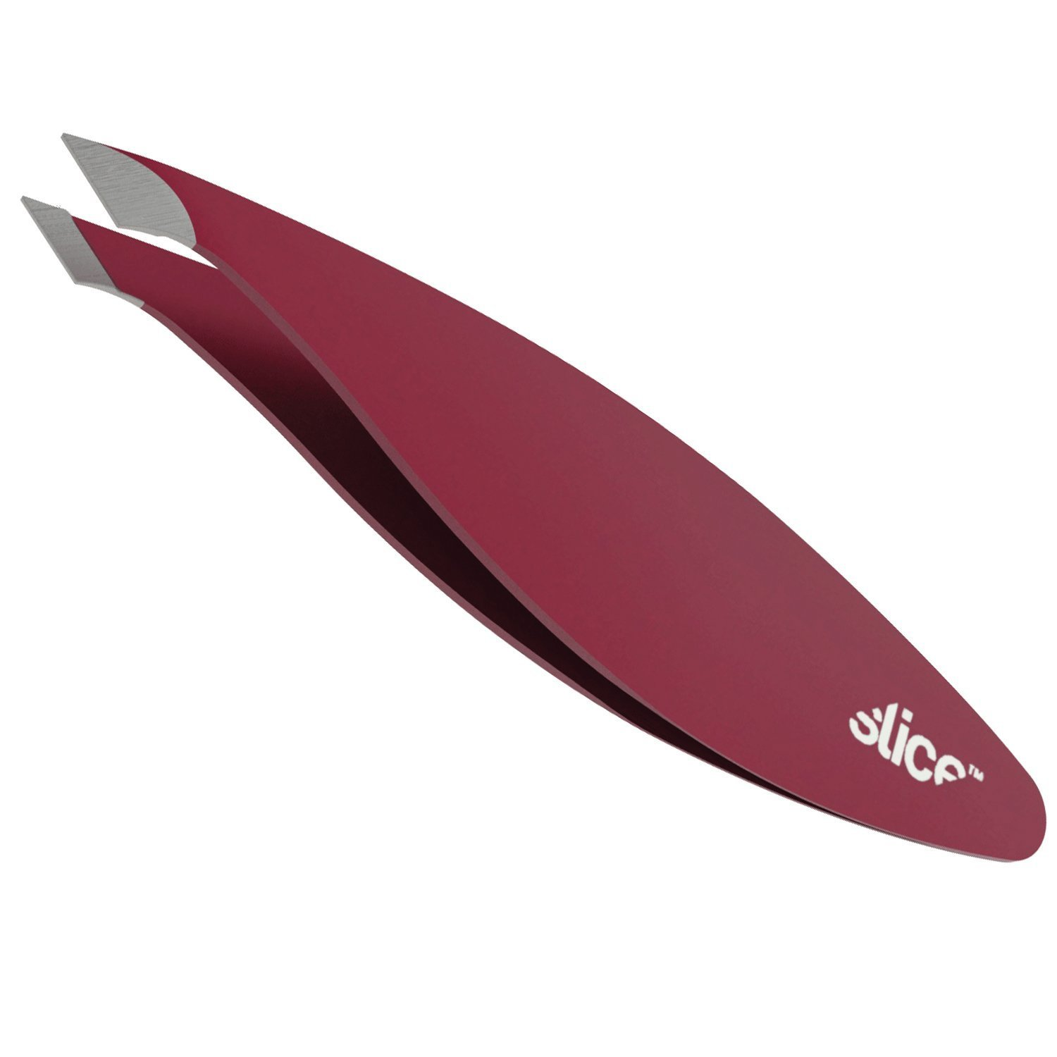 Slice 10457 Combo Tip Tweezer, Slanted & Pointed, For Fine Hair & Eyebrow Design, Extra Wide Grip, Red, 6 Pack