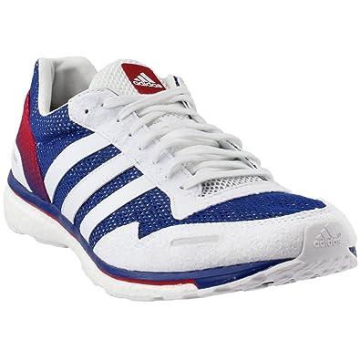 7da9d82223d2a9 adidas Men s Adizero Adios Aktiv Running Shoe Collegiate Royal White Scarlet  7 ...