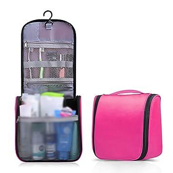 f31598ce6344 Women Large Travel Makeup Bag Portable Toilet Hanging Bag Solid ...
