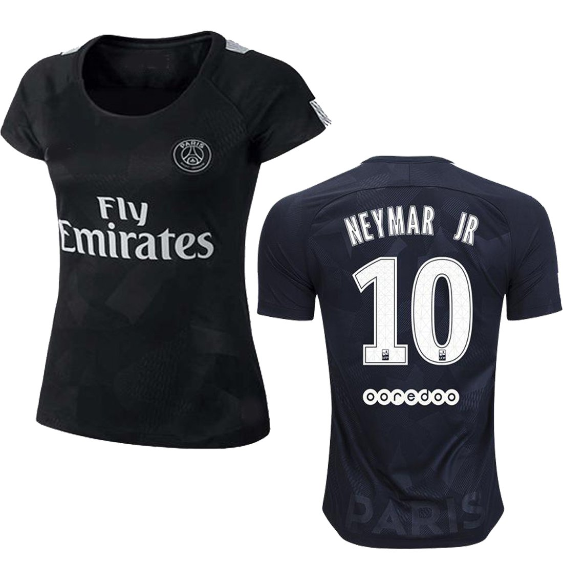 Paris Saint Germaine 2017/18 17 2018 PSG Neymar Women REPLICA Home and Third Jersey (Neymar Women 3rd Black, Small) by Unknown