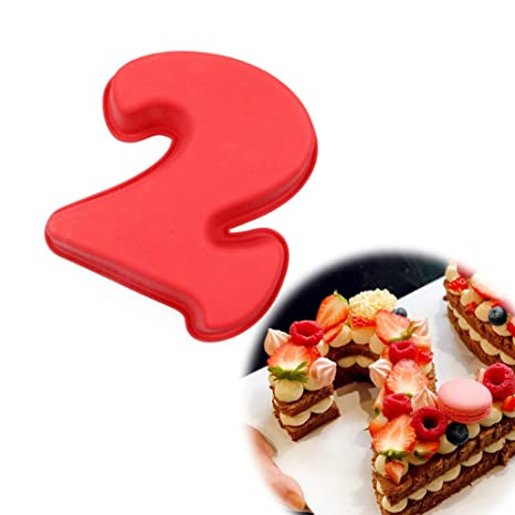 Cuigu Stampi A Forma Di Numero Per Torta In Silicone Per Cottura