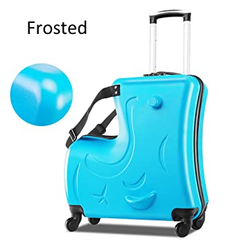 d0692323d0 Bagages Ride-On Suitcase Enfant Enfant À Monter Valise Suitcase,Blue,Frosted