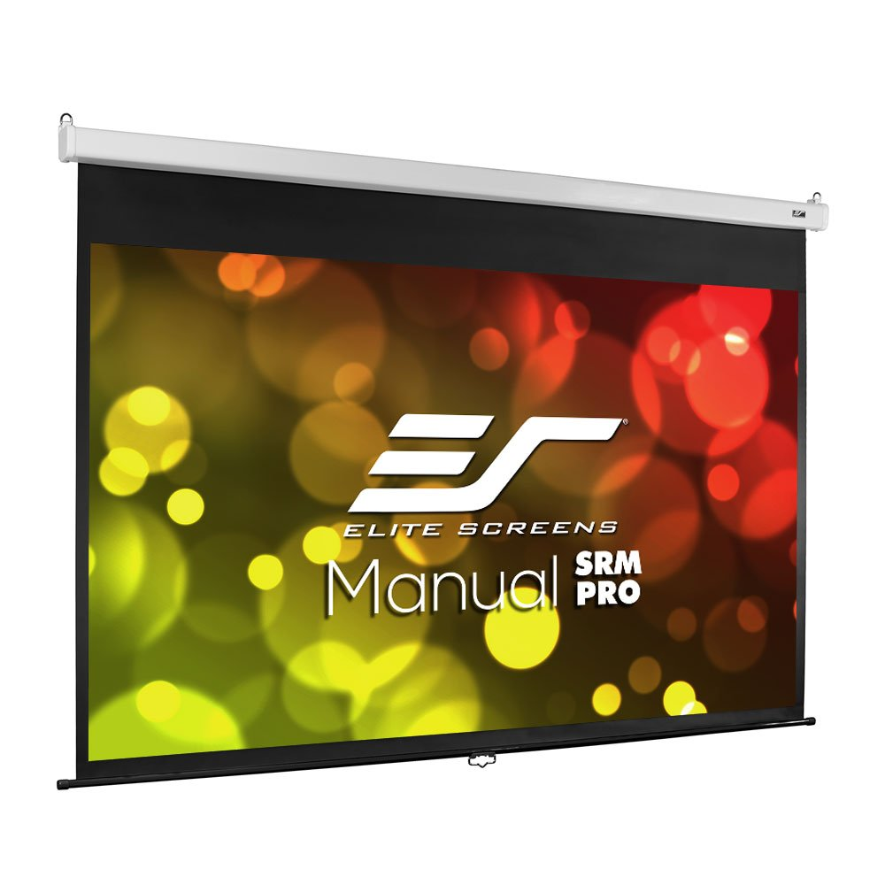 Elite Screens Manual SRM Pro, 100-inch 16:9, Slow Retract Pull Down Projection Manual Projector Screen, M100HSR-Pro