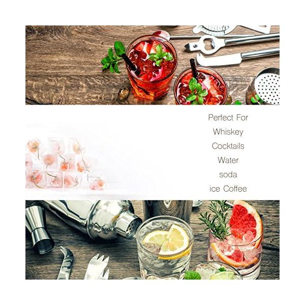 Beicemania - Vaschetta per cubetti di ghiaccio in silicone, con coperchio, 17,5 x 11,3 x 3 cm, multicolore, 4 pezzi 5 spesavip