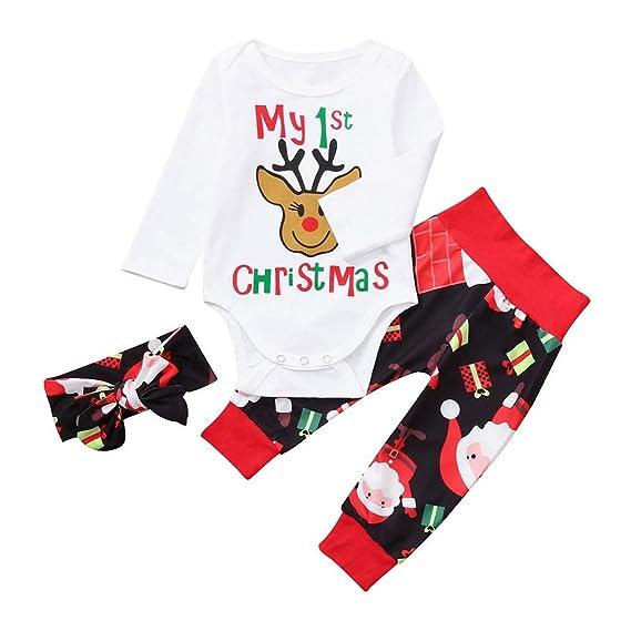 Ropa Bebe Niña Niño Navidad Fossen 3pcs / Conjunto my First ...