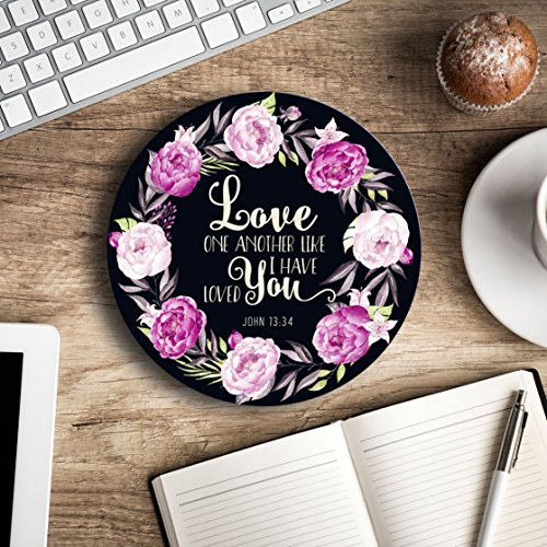 Love one another like I have loved you - Christian quote - Inspirational Office Decor Mouse pad with bible verse - Pretty office decor - Decorate your office space]()