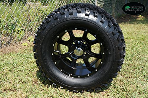 and Tires Combo Set of 4 Black w/ All Terrain Tires ()