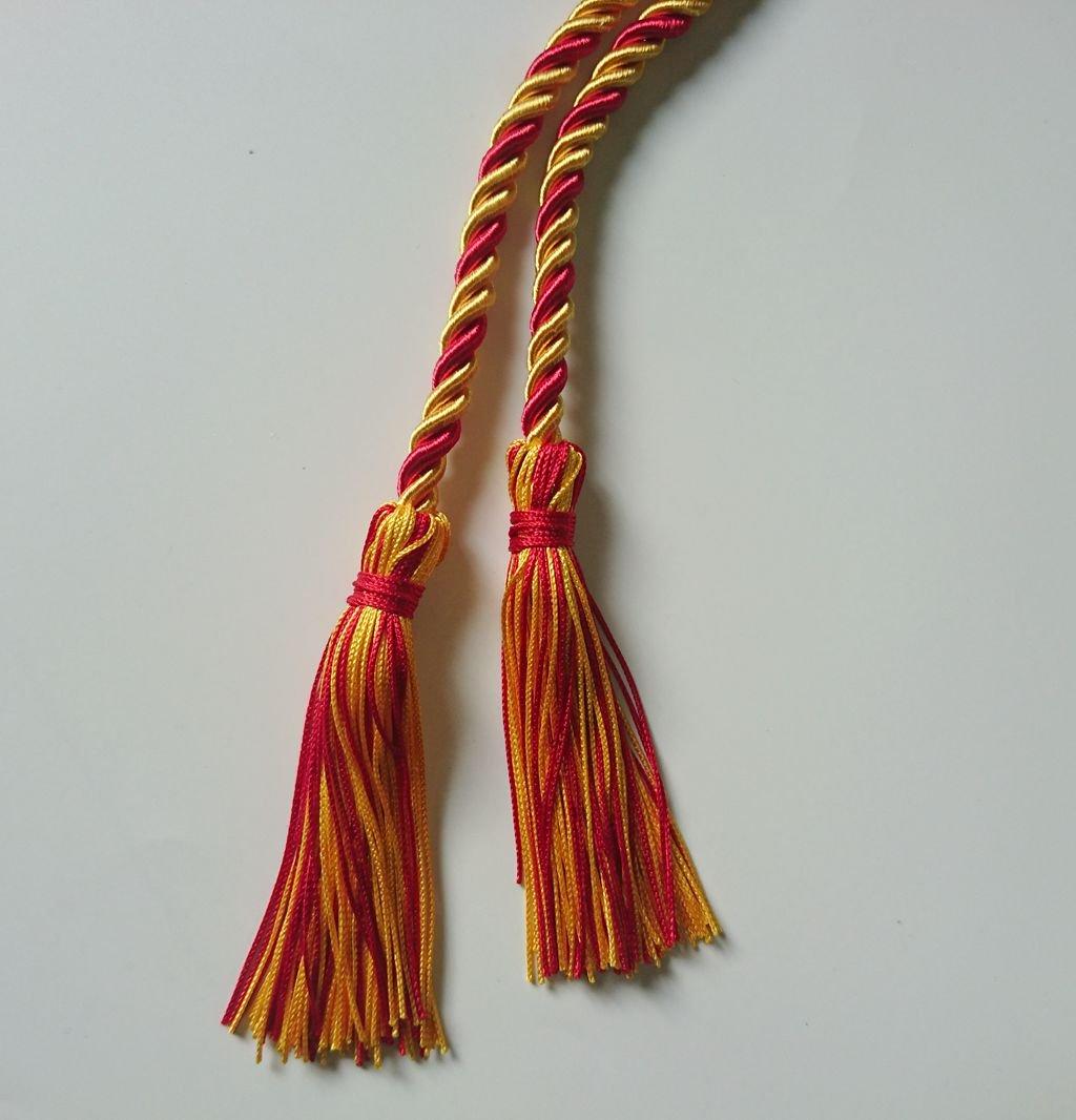 Graduation Honor Cord Two-Color Braided Grad Days Black White