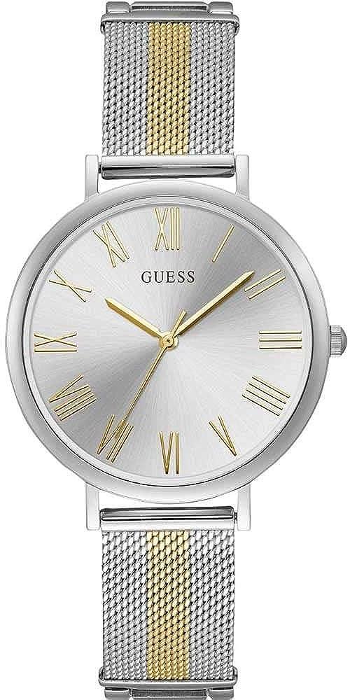 GUESS Reloj Analógico para Mujer de Cuarzo con Correa en Acero Inoxidable 0091661488214