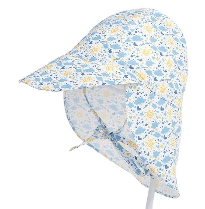 Sombrero del Bebé Gorra Niños Impreso Solar Sombrero Bebé Protector Gorra  Exterior Mode De Marca Bebé 53479154db46