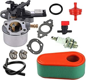 TOPEMAI 796608 Carburetor Replace 593599 591137 595390 590948 798938 Compatible with Briggs and Stratton 11P902 111P02 Engine with 795066 Air Filter,for Husqvarna 775EX Lawn Mower Carb