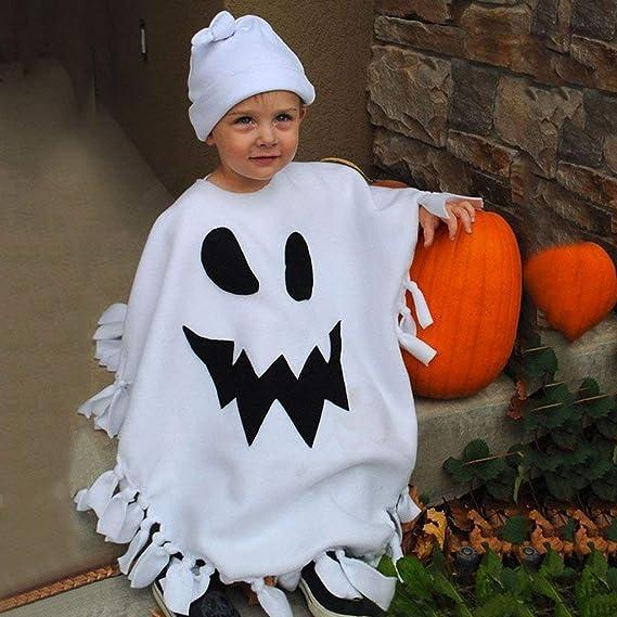 Cappello Set di Costumi Ragazza Casual Stampa Zucca Cosplay Festa Costumi Pantaloni BaZhaHei Bambini Halloween 3pcs Outfits,Ragazzo Tops a Maniche Lunghe Felpa