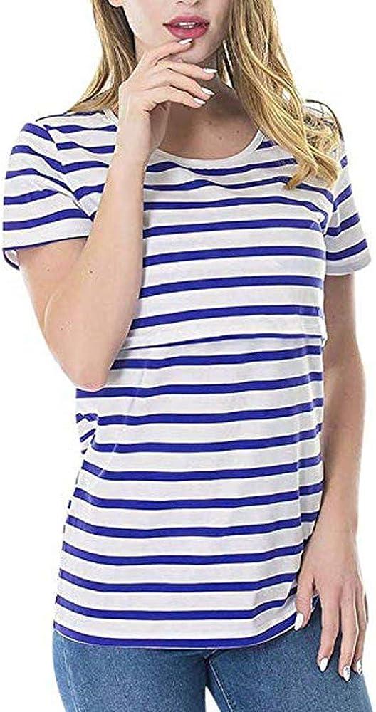 Vectry Premamá Camiseta Camiseta Mujer Manga Corta Negra Blusas De Mujer De Moda 2019 Elegantes Camisas Mujer Casual Camisa Premama Celeste 2019 Nuevo Camisetas Premama Azul: Amazon.es: Ropa y accesorios