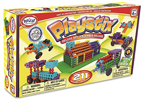 Popular Playthings Playstix Deluxe Set 211 Pieces (Bilingual)