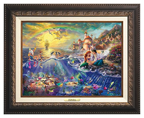 Thomas Kinkade Canvas Classic Little Mermaid - 12'' x 16'' - Aged Bronze Frame - 60995