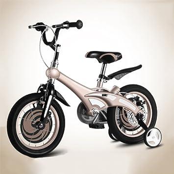 ZCRFY Bicicleta para Niños Infantiles Niñas Pequeños Bebé Estudiante Asiento Ajustable Manillar Masculino Femenino Cómodo Seguro