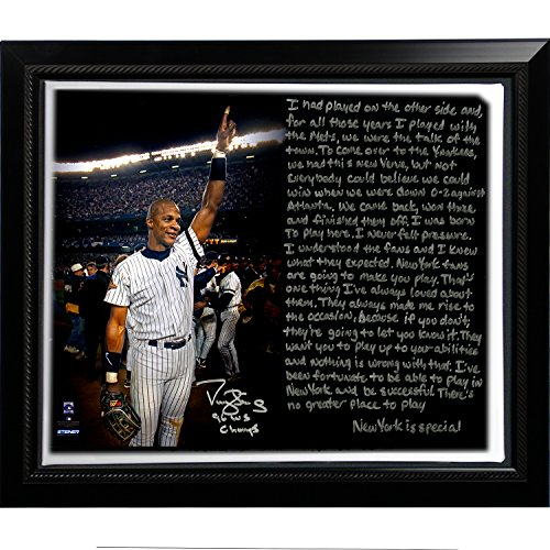 (MLB New York Yankees Framed 22x26 Darryl Strawberry Facsimile '1996 World Series' Story Stretched Canvas)