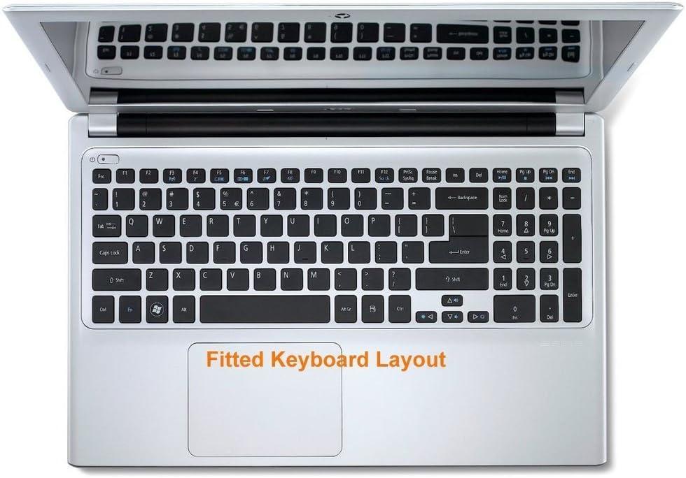 M3-581TG V5-561P V5-571P V7-581P Leze Semi-Purple Ultra Thin Silicone Keyboard Protector Skin Cover for Acer Aspire M3-581T V5-571 V5-561 V5-571PG V5-531P M5-581T V5-561PG M5-583P M5-581TG M5-581 M5-582PT V5-561G V5-551
