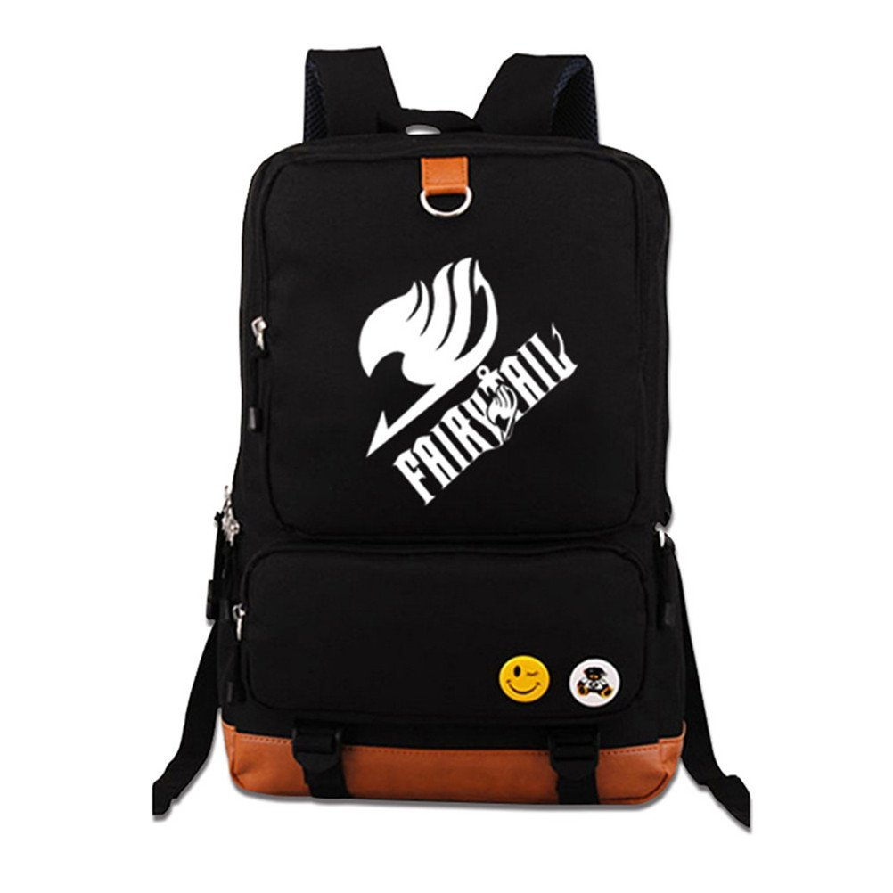 Siawasey Fairy Tail Anime Cartoon Luminous Laptop Daypack Backpack Shoulder School Bag (Fairy 2)