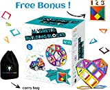 Magnetic Building Blocks 112 pcs | Best Educational Toy Set for Boys and Girls | Strong Magnets | by Little Fingers Big Minds